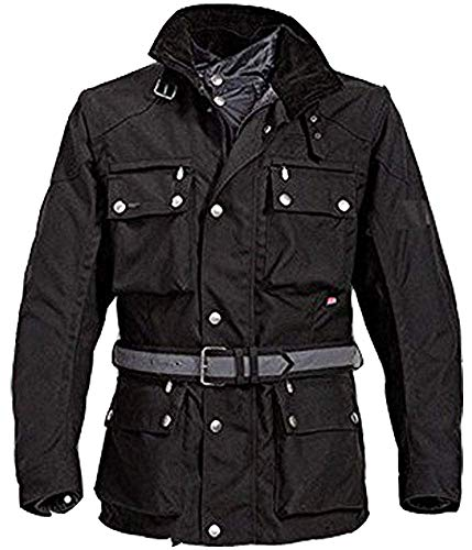 Neuen Männer Motorrad Motorradwasserdicht Wärmeschutzjacke, Farbe schwarz, L