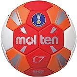 MOLTEN H1C3500-RO Balón de Balonmano, Infantil, Rojo, 1