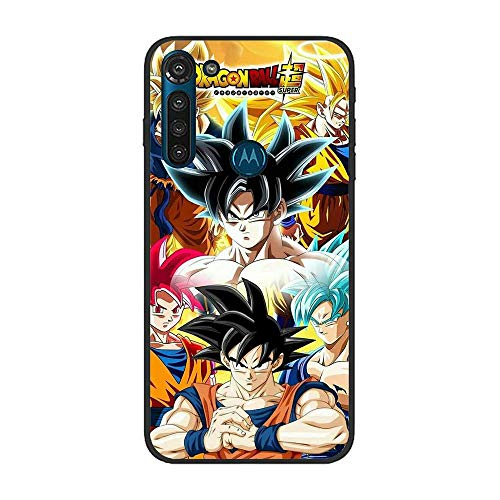 Gentra feature Matte Black CoqueSoft Crystal Slim TPU Bumper Compact Protective Cover Case For Moto G8 Power-Dragon-Ball Z Super Son-Goku 3