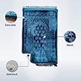 Palmyra Delights Muslim Prayer Mat - Blau Matte | Prayer| Gebetsteppich
