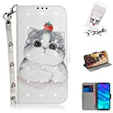 XYX Wallet Case for Samsung A52 5G,[Wrist Strap] Colorful PU Leather Wallet Flip Protective Case for Samsung Galaxy A52 5G (Tomato cat)