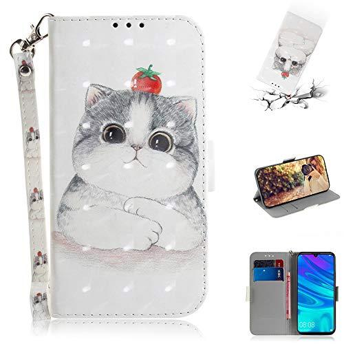 Capa tipo carteira XYX para iPhone 11, [Al?a de pulso] Capa protetora tipo carteira de couro PU colorida para iPhone 11 6,1 polegadas (gato tomate)
