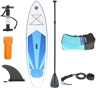 Fklee Adulto Unisex Inflable Stand Up Paddle Board Kit con Bomba de Aire con manómetro, Paleta Flotante de Aluminio Ajustable, Kit de reparación, Bolsa de Almacenamiento y Correa Tabla de Surf