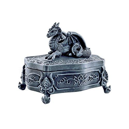 Design Toscano Legendärer Drachen von Glenshire, Kästchen mit Deckel