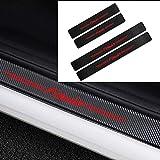 AMPTRV 4 Piezas de protección de Cubierta de umbral Placas de protección decoración estribos de Coche para Fabia,4D Fibra de Carbono automotriz Anti-Kick Anti-Scratch Pedal Styling Accesorios