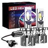 Lampadine H4 LED, XENPLUS 60W 10600LM Per Fari Abbaglianti e Anabbaglianti per Auto, Portalampada orientabile Sostituzione Lampada Alogena E Fari Allo Xenon, 12V 6500K Bianco