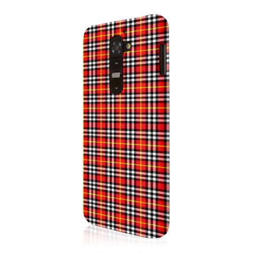Empire Serie Signature Red Plaid - Cover Sottile per LG G2, Colore: Rosso