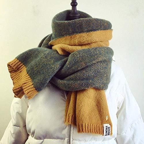 B/H Bufanda Fular Modernas,Bufanda Caliente con Flecos de Moda,Chal de Cuadros de piña de punto-07,Cozy Moda Bufandas Largas de Chal Cálido
