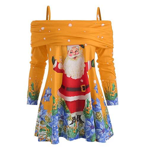 Femme Sweat Long Sweat Hors Épaule Sweat Long Costume Noël Chandail Pas Cher