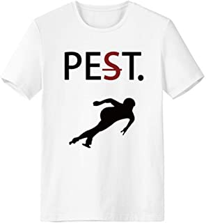 CaoGSH T-shirt à manches courtes avec silhouette noire pour animal domestique mais pas ravageur Blanc