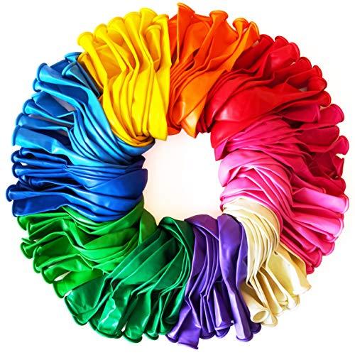 Funny Papi 110 piezas globos para fiesta - 11 colores globos cumpleaños - látex de helio de calidad - globos de cumpleaños - globos fiesta