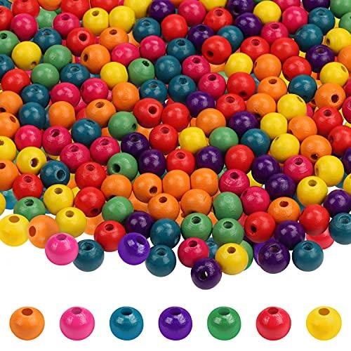 Kurtzy Perline Legno Naturale Tonde Multicolore (1000 Pezzi) - Perline in Legno da 7 mm- Perline per Braccialetti, Collane, Artigianato e Gioielli Fai da Te - Perline Colorate per la Casa