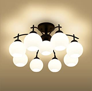 Iron LED Ceiling Living Room Bedroom Dining Room Lamps Book (Design : 9P)