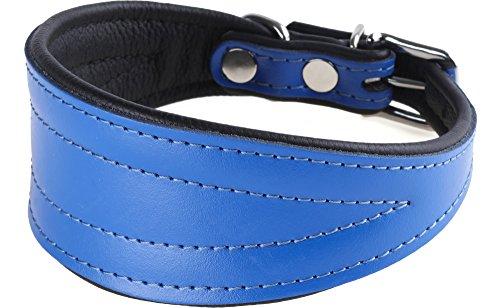 Garronda Collare per Levriero in Pelle Morbida CH499+ (Rosa, 45 cm)