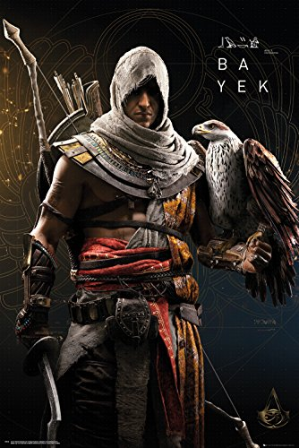 GB Eye Ltd Assassins Creed Origins, bayek, Maxi Poster 61 x 91,5 cm, Holz, verschiedene, 65 x 3,5 x 3,5 cm