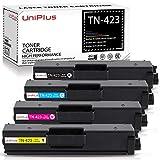 UniPlus Cartuchos de Tóner Compatibles para Brother TN-423 TN-421 TN423 Tóner para Brother HL-L8260CDW HL-L8360CDW DCP-L8410CDN L8410CDW MFC-L8690CDW L8900CDW (1 Negro, 1 Cian, 1 Magenta, 1 Amarillo)