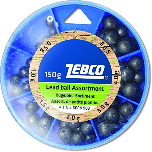 Zebco - Piombo sferico da 0,5 a 5 g