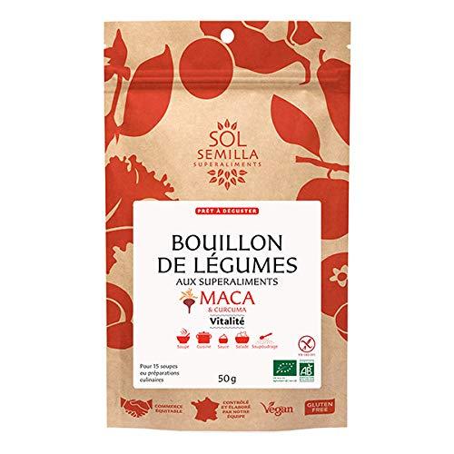 SOL SEMILLA - Bouillon De Légumes Maca & Curcuma Vitalité 75G - Lot De 3