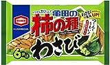 亀田製菓 亀田の柿の種わさび6袋詰 182g×12袋