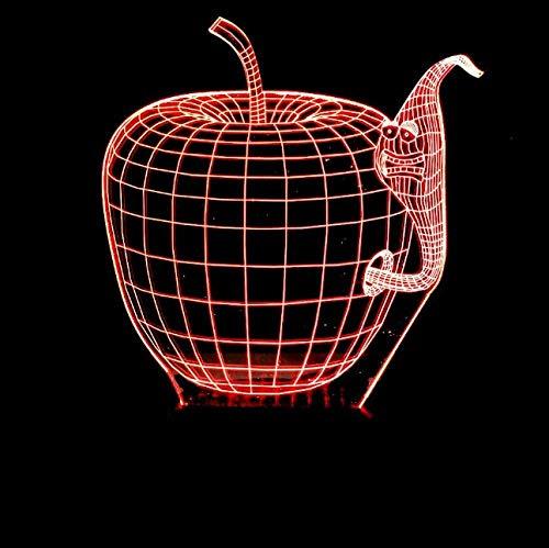 3D Illusion Nachtlicht Bluetooth Smart Control 7 & 16M Farbe Mobile App Led Vision Quelle Apfel Licht Freunde Kinder Kinder Schlafzimmer Schlafzimmer Wohnzimmer Acr