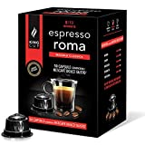 King Cup - Paquete de 50 Cápsulas de Café Nescafè Dolce Gusto Mezcla Roma, Intensidad 8/10, Café Denso y Cremoso, 50 Cápsulas Compatibles con el Sistema / Máquina Nespresso, Made in Italy