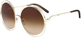 bd5601789a74 Chloe CE114S 784 Rose Gold   Brown Carlina Round Sunglasses Lens Category 3  Siz