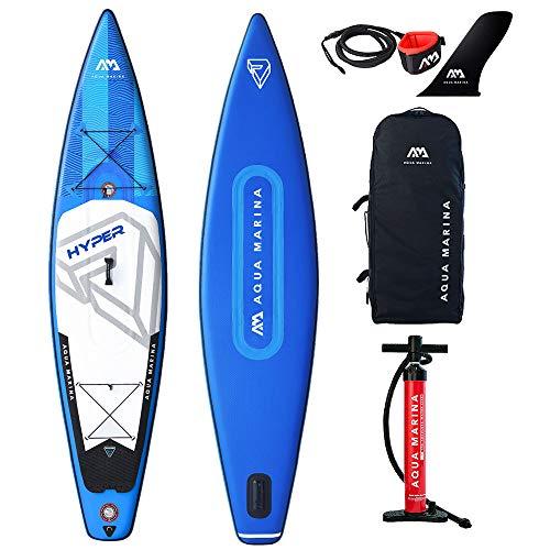 Aqua Marina Unisex-Adult BT-19HY02 Hyper - Touring iSUP, 3.81m/15cm, with Safety Leash, Blue, 381 x 81 x 15