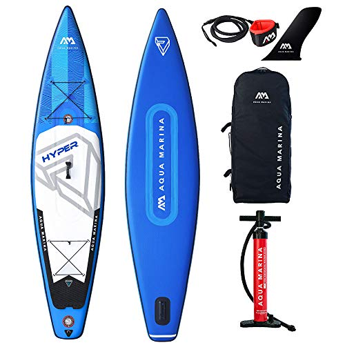 Aqua Marina Unisex-Adult BT-19HY01 Hyper - Touring iSUP, 3.5m/15cm, with Safety Leash, Blue, 350 x 79 x15