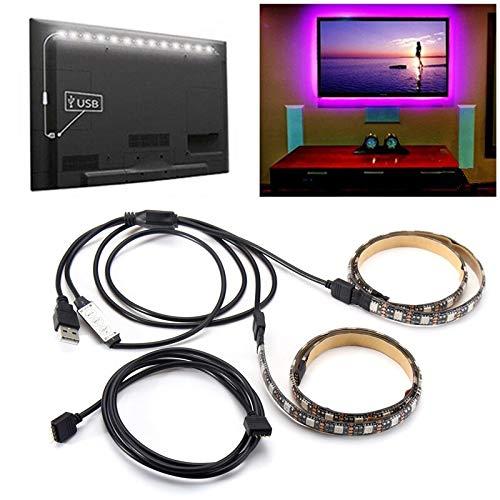 H/A 50 cm 2 unids USB 5V 5050 Impermeable RGB LED LED Bar Barra de TV de Fondo de Escritorio Pantalla de la computadora de la computadora AZHAA