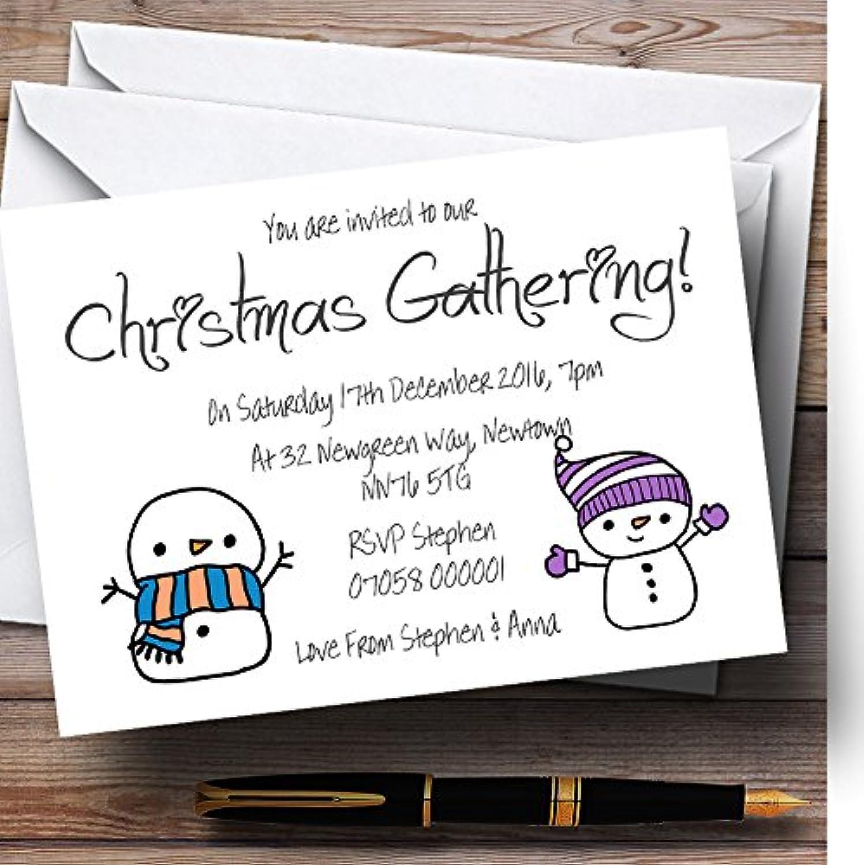 precios bajos Mueco de nieve de Navidad personalizado personalizado personalizado invitaciones de fiesta  precios al por mayor