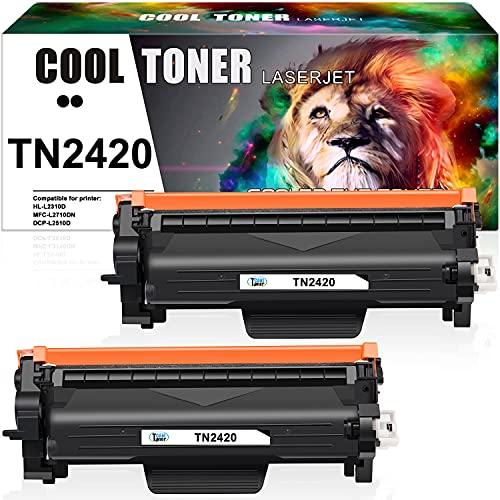 Cool Toner Compatibili Cartucce di Toner Sostituzione per Brother TN2420 TN-2420 TN2410 TN-2410 per MFC-L2710DW L2710DN L2730DW L2750DW HL-L2310D L2350DW L2370DN DCP-L2510D L2530DW (Nero, 2-Pack)