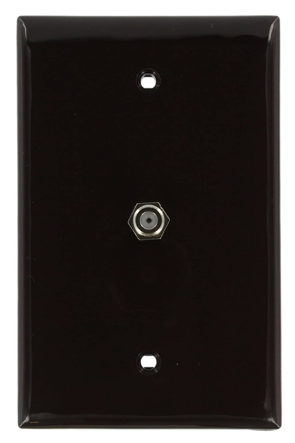 Leviton 40539-MB Midsize Video Wall Jack, F Connector, Brown