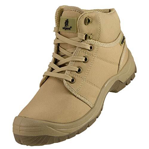 K&G Arbeitsstiefel Urgent 111 S1 BEIGE Arbeitsschuhe Schuhe mit Stahlkappe Gartenschuhe Herrenschuhe Sicherheitsschuhe Stiefel Garten Herren (Numeric_46)