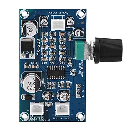 Placa de reverberación de micrófono Placa de amplificador mono de potencia de audio de un solo canal DC6-15V