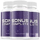 (3 Pack) Sonus Complete Tinnitus Supplement Pills, Premium Sonus Relief Supp Capsules for The Original Brand Only (180 Capsules)