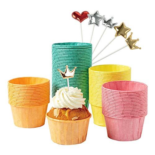 Katbite - Mini pirottini di carta per cupcake, 160 pezzi, antigrasso