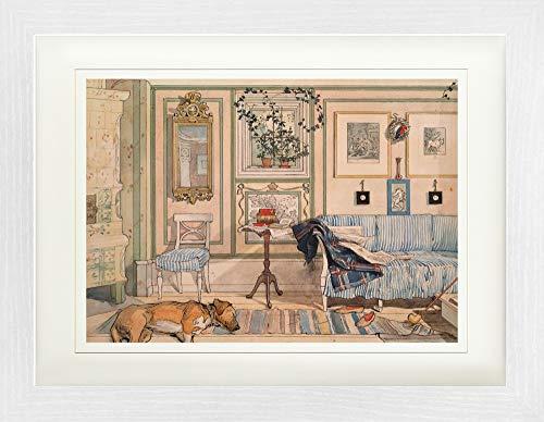 1art1 Carl Larsson - Mein Wohlfühl-Zimmer, 1894 Gerahmtes Bild Mit Edlem Passepartout | Wand-Bilder | Kunstdruck Poster Im Bilderrahmen 40 x 30 cm
