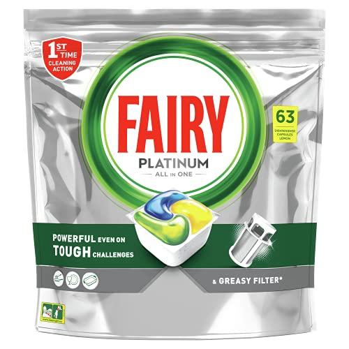 Fairy Platinum Detergenti per Lavastoviglie, 63 Capsule
