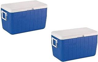 Coleman 48-Quart Performance Cooler (2 Set, Blue)
