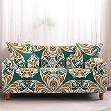 Fundas de sofá Estampadas Elástica,2 Plazas Antideslizante Ajustables Funda de Sofá,Universal Poliéster Protector Cubierta de Muebles,+2 Funda de Cojín,Graffiti Vintage de Color