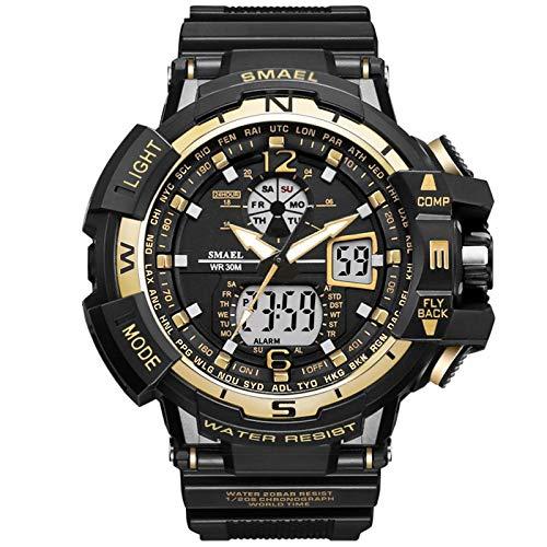 LVDONGMEI stopwatch sporthorloges voor heren, waterdicht, digitale horloges, met countdown voor grote kinderen, analoge led-polshorloge