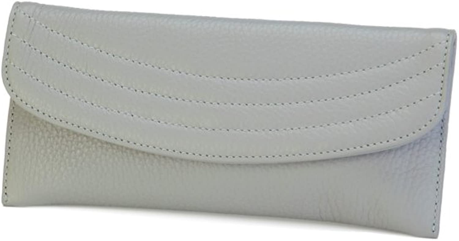 Genuine Italian Leather Women's Skinny Wallet and Credit Card Holder