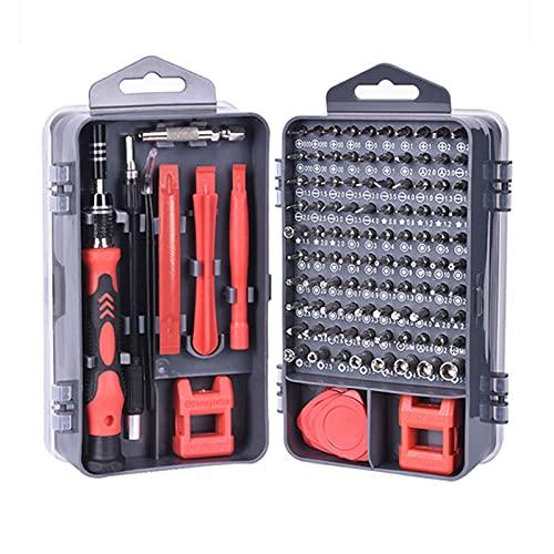 LGQ Kit de Herramientas de reparación de Destornilladores de precisión 115 en 1 Accesorio de Destornillador magnético pequeño para computadora portátil, Escritorio, Reloj, teléfono Inteligente,Rojo