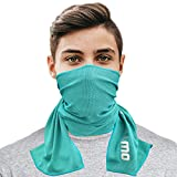 Cooling Towel for Instant Relief - 40' Long As Scarf - XL Ultra Soft Breathable Mesh Yoga Towel -...