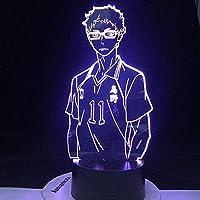 GMYXSW 若い導かれたアニメのための3Dの夜のライトマンガギフトアニメのランプギフトリモコンランプOtaku 16色の変化