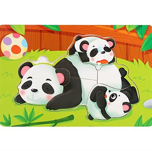 SSSSY Bois Puzzle Puzzle Fine Moteur Compétence Première Apprentissage Preschool Jeu éducatif Eco...