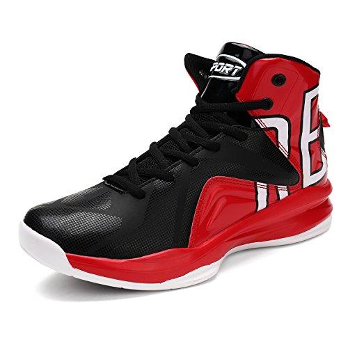 Hombres Zapatillas de Baloncesto Otoño Nuevo Entrenadores Moda Al Aire Libre Sneaker(Negro EU40)