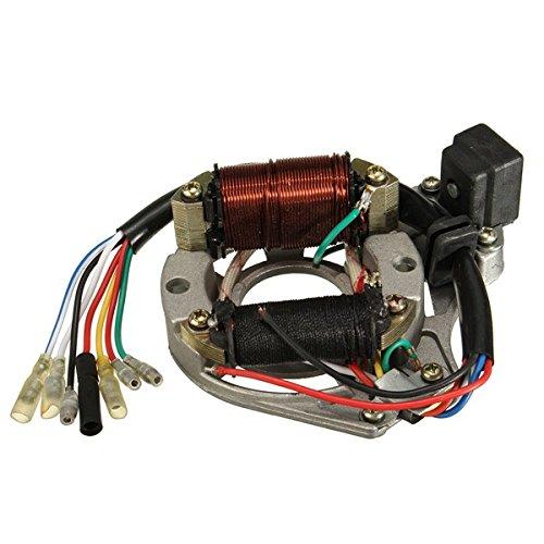Alamor 50Cc 110Cc 125Cc 2 Bobina ATV Quad Estator Bobina De Encendido Magneto Placa Chino