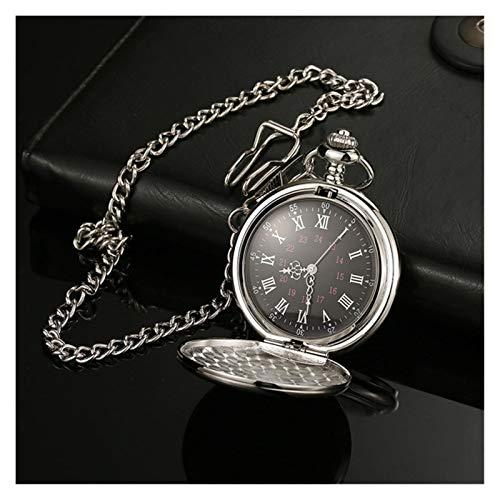 Moonlight Star Relojes de Bolsillo clásico Polaco Smooth Cuarzo Relojes de Bolsillo de la joyería Pendiente de la aleación de la Cadena con el Regalo de la Cadena del Collar del Hombre Mujeres