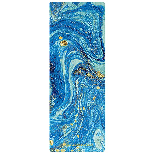 HHBB Esterilla de yoga deportiva de 183 cm x 68 cm x 15 mm antideslizante de goma para gimnasio portátil de gimnasia de 1830 mm x 680 mm de color azul profundo